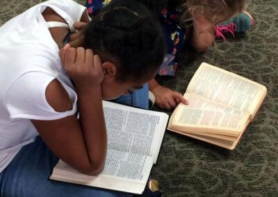Zion Lutheran Church - Children Reading the Bible